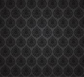Seamless damask wallpaper. Vector. seamless damask black pattern Royalty Free Stock Photos