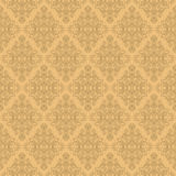 Seamless damask wallpaper. Stock Photo
