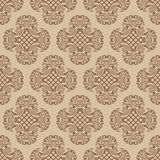 Seamless damask wallpaper. Stock Image