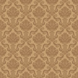 Seamless Damask Wallpaper. The pattern can be repeated with the transform effect in Illustrator, or with Define Pattern in Photoshop Royalty Free Stock Image