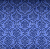 Seamless Damask Wallpaper. The vector pattern is seamless, remove the gradient first Stock Photo
