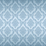 Seamless Damask Wallpaper. The vector pattern is seamless, remove the gradient first Stock Images