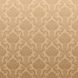 Seamless Damask Wallpaper. The vector pattern is seamless, remove the gradient first Royalty Free Stock Photo