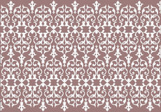 Seamless Damask wallpaper background in brown Royalty Free Stock Images