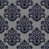 Seamless damask Wallpaper for design Stock Image