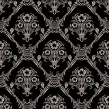 Seamless damask Wallpaper with flowers Ornament Royalty Free Stock Photos