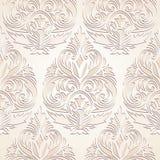 Seamless damask wallpaper. Seamless golden damask wallpaper design Royalty Free Stock Image