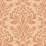 Seamless Damask Wallpaper. Damask seamless pattern for design. Vector Illustration stock illustration