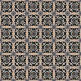 Seamless Damask Wallpaper Pattern Stock Photography