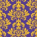 Seamless damask wallpaper pattern. Seamless vector damask wallpaper pattern Stock Photo