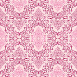 Seamless damask Wallpaper in shades of pink Stock Images