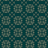 Seamless Damask Wallpaper/textile. Vector illustration depicting a seamless pattern wallpaper or textiles in the Damascus style Royalty Free Stock Photo