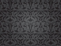 Seamless damask wallpaper (vector) stock illustration