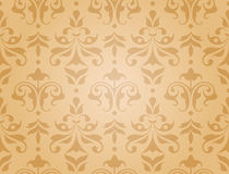 Seamless damask wallpaper (vector) vector illustration