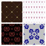 Seamless damask wallpaper. Vector decoration seamless ornament  background Royalty Free Stock Images