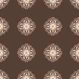 Seamless Damask wallpaper. Vintage pattern vector set Royalty Free Stock Images