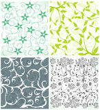 Seamless Damask wallpapers Stock Image