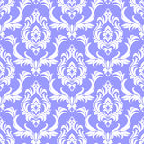 Seamless damask white Pattern on blue in retro Style Royalty Free Stock Photography