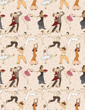 Seamless dancer pattern Royalty Free Stock Photo