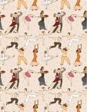 Seamless dancer pattern Royalty Free Stock Photo