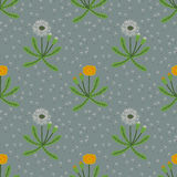Seamless dandelions pattern Royalty Free Stock Photos