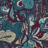 Seamless dark abstract hand-drawn texture Royalty Free Stock Image