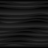 Seamless dark background of abstract waves Stock Image