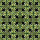 Seamless dark background with green patterns Stock Photography