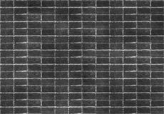 Seamless dark black brick wall tile able pattern. Uneven shape. For interior, exterior render material mapping.  stock image