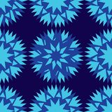 Seamless dark blue background and colorful abstract geometric shapes cornflower blue royalty free illustration
