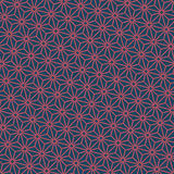 Seamless dark blue and burgundy diagonal japanese asanoha pattern vector. Seamless dark blue and burgundy diagonal japanese asanoha pattern Royalty Free Stock Photo