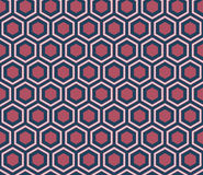 Seamless dark blue and burgundy honeycomb pattern. Seamless dark blue and burgundy honeycomb pattern Royalty Free Stock Photos