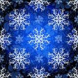 Seamless dark blue christmas pattern Stock Photo