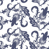 Seamless dark blue pattern Royalty Free Stock Photos