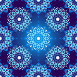 Seamless dark blue vintage christmas pattern Stock Photography