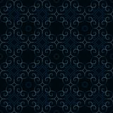 Seamless dark blue vintage damask pattern vector illustration