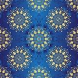 Seamless Dark Blue Vintage Pattern Royalty Free Stock Images