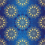 Seamless dark blue vintage pattern Royalty Free Stock Images