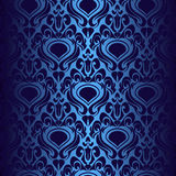 Seamless dark blue wallpaper. Royalty Free Stock Photography