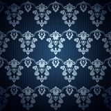 Seamless dark blue wallpaper in style retro. Stock Images