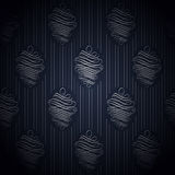 Seamless dark blue wallpaper in style retro. Royalty Free Stock Photography
