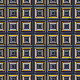 Seamless Dark Blue, Yellow Pattern from Rectangle Intersections Stock Image