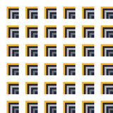 Seamless Dark Blue, Yellow Pattern from Rectangle Intersections Stock Photo