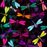 Seamless dark colorful pattern Stock Images