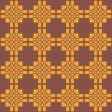 Seamless dark ethnic pattern in warm colours royalty free illustration