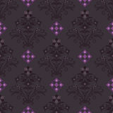 Seamless dark floral wallpaper Stock Image