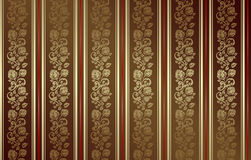seamless dark gold rose pattern Stock Images