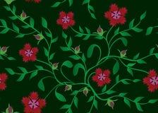 Seamless dark green floral vector texture Stock Photo