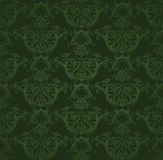 Seamless dark green floral wallpaper
