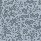 Seamless dark grey floral pattern. Stock Photography